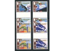 1988 - LOTTO/20306A - GRAN BRETAGNA - EUROPA TRASPORTI 4v. - IN COPPIA