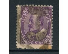 1903/09 - LOTTO/20447 - CANADA - 50c.  EDOARDO VII° - USATO