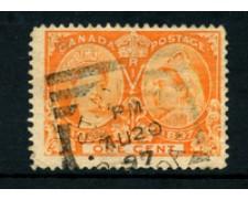 1897 - LOTTO/20448A - CANADA - 1c. ANNIV. REGINA VITTORIA - USATO