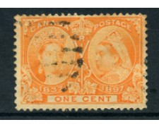 1897 - LOTTO/20448 - CANADA - 1c. ANNIV. REGINA VITTORIA - USATO