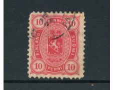 1885 - LOTTO/20466 - FINLANDIA - 10p. ROSA STEMMA