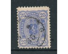 1885 - LOTTO/20467 - FINLANDIA - 25p. OLTREMARE USATO
