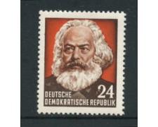 1953 - LOTTO/20477 -  GERMANIA DDR - 24p. C. MARX - NUOVO
