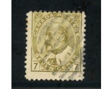 1903/09 - LOTTO/20485 - CANADA - 7c.  EDOARDO VII° - USATO