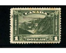 1930/31 - LOTTO/20488 - CANADA - 1 DOLLARO VERDE - USATO