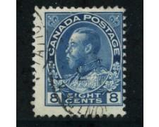 1917 - LOTTO/20489 - CANADA - 8c. BLU  - USATO