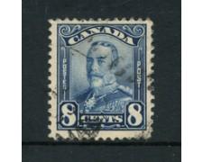 1928 - LOTTO/20494 - CANADA - 8c.  GIORGIO V° - USATO