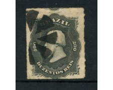 1876 - LOTTO/20497 - BRASILE - 200r. NERO - PEDRO II° USATO