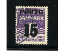 1934 - LOTTO/20520 - DANIMARCA  - 15 ore  VIOLETTO SEGNATASSE - USATO