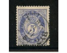 1877 - LOTTO/20523 - NORVEGIA - 5 ore OLTREMARE - USATO