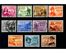 1947 - LOTTO/20539 - NORVEGIA - CENTENARIO POSTE  11v. - USATI