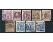 1944 - LOTTO/20543 - SPAGNA - MILLENARIO DI CASTIGLIA 9v. - USATI