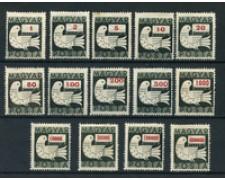1946 - LOTTO/20555 - UNGHERIA -  PICCIONE E LETTERA  14v. - LING.