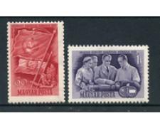 1950 - LOTTO/20560 - UNGHERIA - AMICIZIA UNGARO-SOVIETICA 2v. - NUOVI