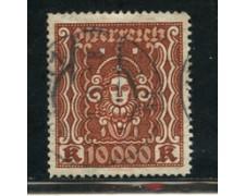 1923/24 - LOTTO/20565 - AUSTRIA - 10000 Kr. BRUNO ROSSO - USATO