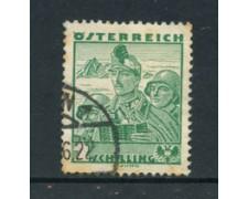 1934 - LOTTO/20566 - AUSTRIA - 2 Sc. COSTUMI  REGIONALI - USATO