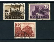 1937 - LOTTO/20567 - AUSTRIA - CENTENARIO FERROVIE 3v. - USATI