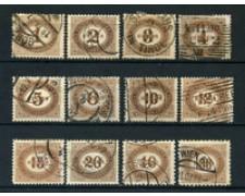 1900 - LOTTO/20575 - AUSTRIA - SEGNATASSE 12v. - USATI