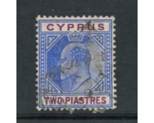 1903 - LOTTO/20602 - CIPRO - 2p. AZZURRO E LILLA - USATO