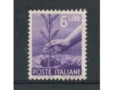 1945 - LOTTO/20622 - REPUBBLICA -  6 LIRE DEMOCRATICA - NUOVO