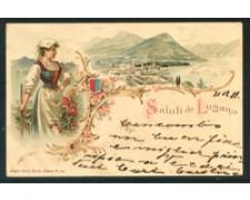 SVIZZERA - 1900  LUGANO - LOTTO/20805GA - SALUTI DA LUGANO VIAGGIATA