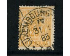 1882 - LOTTO/20831 - LUSSEMBURGO - 20c. GIALLO ARANCIO - USATO