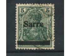 1920 - SARRE - LOTTO/20877 - 5p. VERDE - USATO