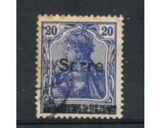 1920 - SARRE - LOTTO/20879 - 20p. AZZURRO - USATO