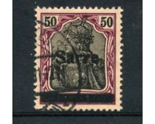1920 - SARRE - LOTTO/20880 - 50p. CARMINIO E NERO - USATO