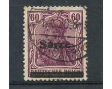 1920 - SARRE - LOTTO/20881 - 60p. LILLA - USATO
