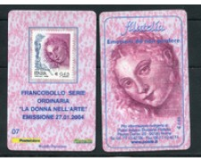 2004 - LOTTO/20911 - REPUBBLICA - 45c. DONNA ARTE - TESSERA FILAT.