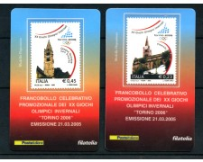 2005 - LOTTO/20955 - REPUBBLICA - OLIMPIADI INVERNALI TORINO - 4 TESSERE FILAT.
