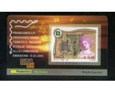 2005 - LOTTO/20957 - REPUBBLICA - 45c. REGIONE LOMBARDIA - TESSERA FILAT.