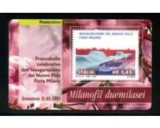 2005 - LOTTO/20960 - REPUBBLICA - 45c. FIERA DI MILANO - TESSERA FILAT.