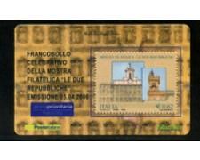 2006 - LOTTO/20973 - REPUBBLICA - 62c. MOSTRA LE DUE REPUBBLICHE - TESSERA FILAT.