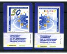 2007 - LOTTO/21010 - REPUBBLICA - TRATTATI DI ROMA - 2 TESSERE  FILAT.