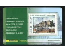 2007 - LOTTO/21016 - REPUBBLICA - 65c. CITTA' DI FIUME - TESSERA FILAT.