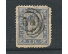 1871 - LOTTO/21020 - DANIMARCA - SERVIZIO 2sk. AZZURRO - USATO