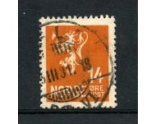 1929 - LOTTO/21024 - NORVEGIA - 14 ore  ARANCIO - USATO