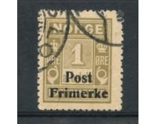 1929 - LOTTO/21025 - NORVEGIA - 1 ore  GRIGIO OLIVA - USATO