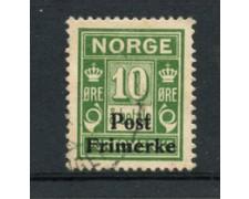 1929 - LOTTO/21027 - NORVEGIA - 10 ore VERDE - USATO