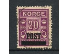 1929 - LOTTO/21028 - NORVEGIA - 20 ore LILLA - USATO