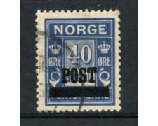 1929 - LOTTO/21029 - NORVEGIA - 40 ore OLTREMARE - USATO