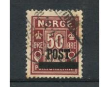 1929 - LOTTO/21030 - NORVEGIA - 50 ore BRUNO ROSSO - USATO