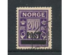 1929 - LOTTO/21032 - NORVEGIA - 200 ore VIOLETTO - USATO