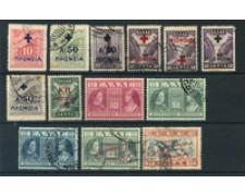 1937/51 - LOTTO/21077 - GRECIA - PREVIDENZA 13v. - USATI