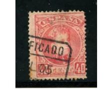 1901 - LOTTO/21206 - SPAGNA - 40 cent. ROSA  ALFONSO XIII° - USATO