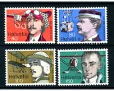1977 - LOTTO/21241 - SVIZZERA - PIONIERI AVIAZIONE 4v. - NUOVI