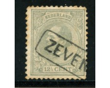 1872/88 - LOTTO/21259 - OLANDA - 12,5  CENT. GRIGIO -  USATO