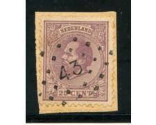 1872/88 - LOTTO/21260A - OLANDA - 25 CENT. VIOLETTO - USATO